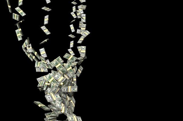 padající peníze